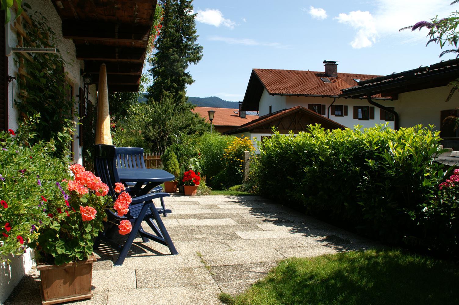 """Terrasse Ferienwohnung """"Linderhof"""""""